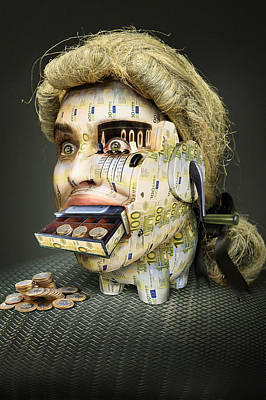 Cash Register Photograph - The Miser Molier by Ddiarte