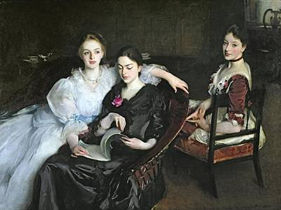 Sisters Painting - The Misses Vickers, 1884 by John Singer Sargent