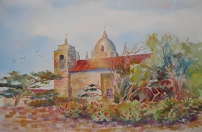 Carmel Mission Painting - The Mission At Carmel by John  Svenson