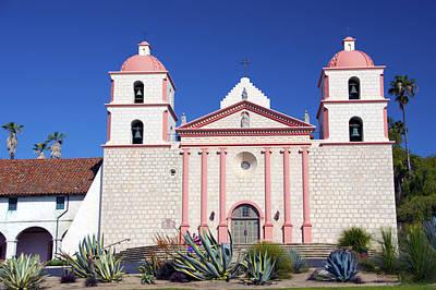 The Mission At Santa Barbara California Art Print