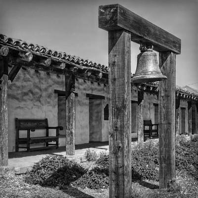 Photograph - The Mission Bell B/w by Hanny Heim