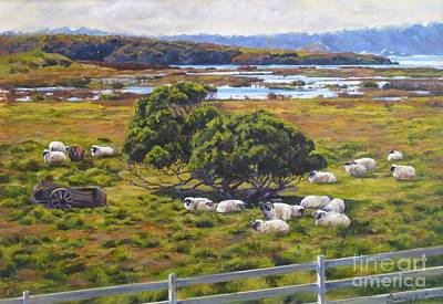Carmel Mission Painting - The Mission Ranch by Shelley Cost