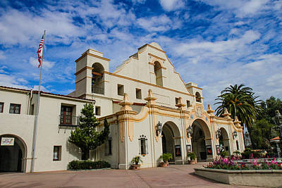 Photograph - San Gabriel Mission by Robert Hebert