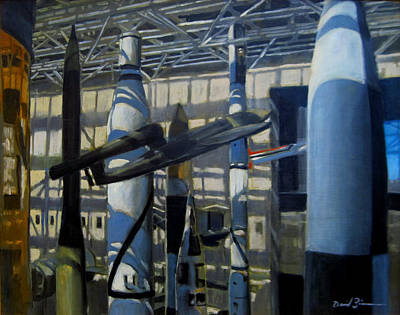 V2 Rocket Painting - The Missiles Of October by David Zimmerman
