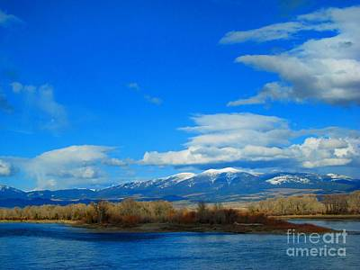 Mount Baldy Photograph - The Missouri Observes The Mountains' Snowy Remnants by Matthew Peek