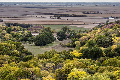 Photograph - The Missouri River Valley by Edward Peterson