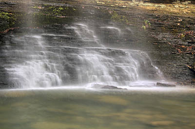 Photograph - The Mist Of Cornelius Falls - Heber Springs Arkansas by Jason Politte