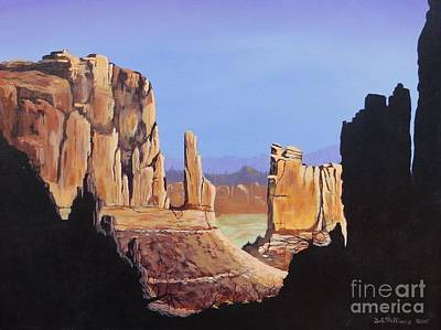 Montana Artist Painting - The Mitten's by Bob Williams
