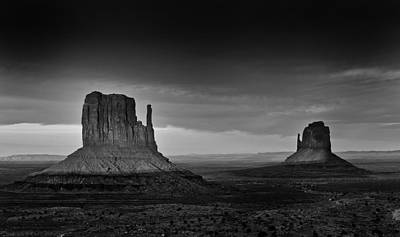 Digital Photograph - The Mittens Of Monument Valley In Evening Light by Jesse Castellano