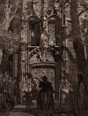 Miguel Art Drawing - The Mock Serenade, By Gustave DorÉ. Dore by Litz Collection