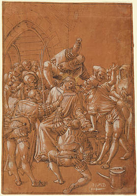 Brown Swiss Drawing - The Mocking Of Christ Niklaus Manuel Deutsch by Litz Collection