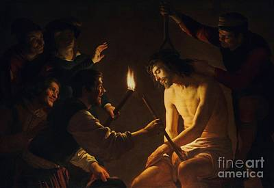 Mocking Painting - The Mocking Of Christ by Pg Reproductions
