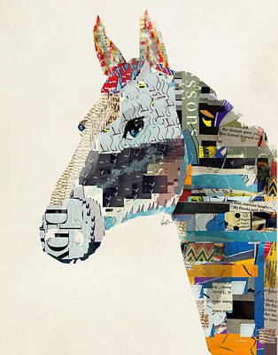 Colourfull Painting - The Mod Horse by Bleu Bri