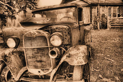 Photograph - The Model A by JC Findley
