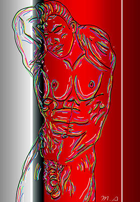 Nudity Mixed Media - The Modern Man 3 by Mark Ashkenazi