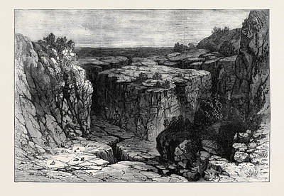 Oregon Drawing - The Modoc Indian War The Lava Beds Oregon 1873 by American School