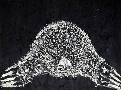 Subterranean Painting - The Mole - Oil Portrait by Fabrizio Cassetta