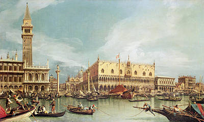 Photograph - The Molo, Venice by Canaletto