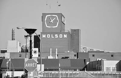 Montreal Streets Photograph - The Molson Clock Montreal by Reb Frost