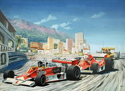The Monaco Grand Prix Art Print by English School
