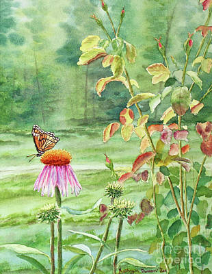 Garden Painting - The Monarch Rules by Kathryn Duncan