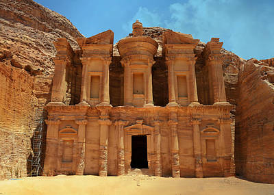 Treasury Photograph - The Monastery At Petra by Stephen Stookey