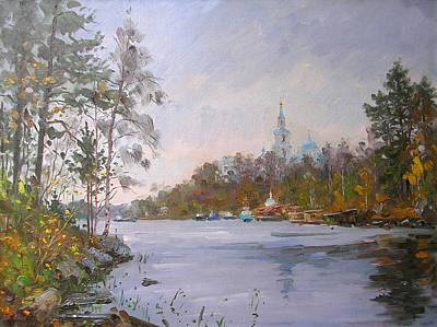 Valaam Painting - The Monastery Bay. Valaam. by Alexandrovsky Alexander