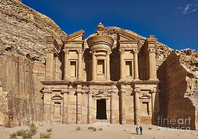 The Monastery El Deir Or Al Deir In Nabataean Ancient Town Petra Jordan Art Print