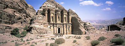 Photograph - The Monastery Tomb At Petra, Jordan by Alison Wright