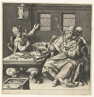 The Money Weighers And Death, Jacob De Gheyn II Art Print