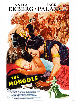 Jack Palance Photograph - The Mongols, Aka I Mongoli, Us Poster by Everett