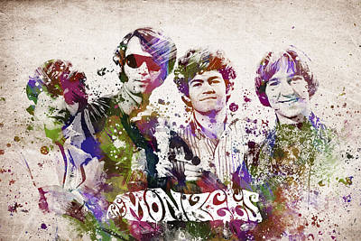 Rock And Roll Mixed Media - The Monkees by Aged Pixel