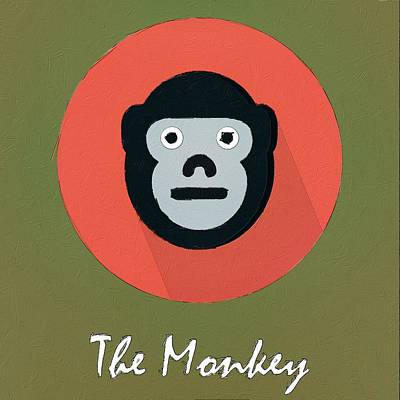Painting - The Monkey Cute Portrait by Florian Rodarte