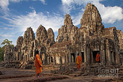The Monks Of Bayon Art Print by Pete Reynolds