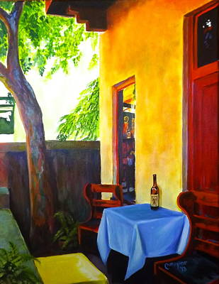 Winery Painting - The Monk's Vineyard by Caroline Conkin