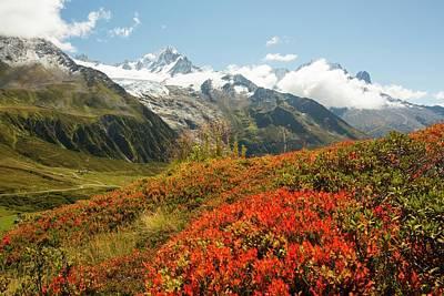 The Mont Blanc Mountain Range Art Print by Ashley Cooper