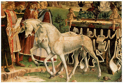 Horse And Cart Painting - The Month Of March by Francesco Del Cossa