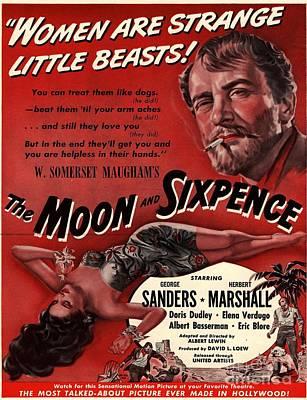 Drawing - The Moon And Sixpence 1943 1940s Usa by The Advertising Archives