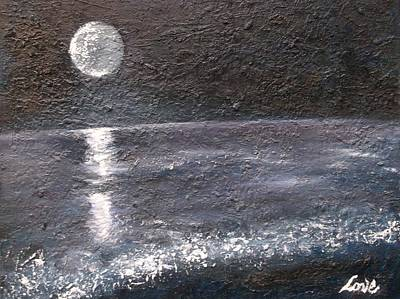 Painting - The Moon And The Sea by Joseph Love