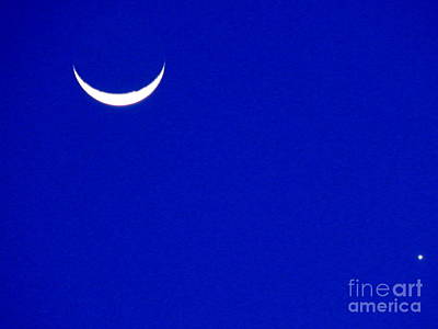 Photograph - The Moon And Venus Rise In New Orleans Louisiana by Michael Hoard