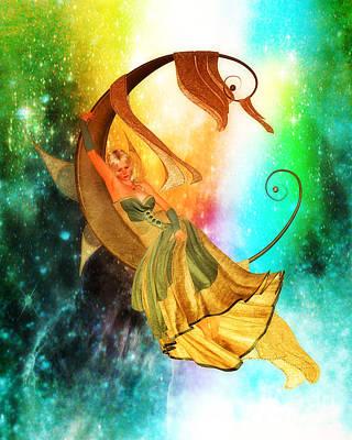 The Moon Child's Ruminations Art Print by Putterhug  Studio