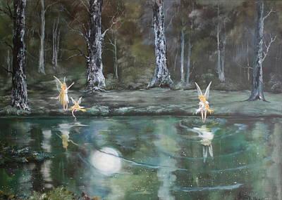 The Moon Fairies Art Print by Jean Walker
