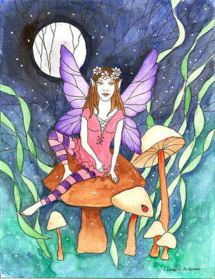 The Moon Fairy Art Print