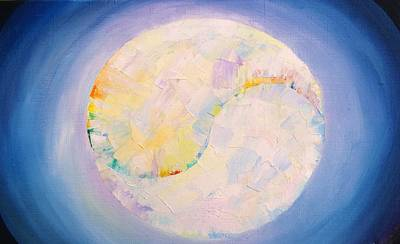 Painting - The Moon by Misuk Jenkins