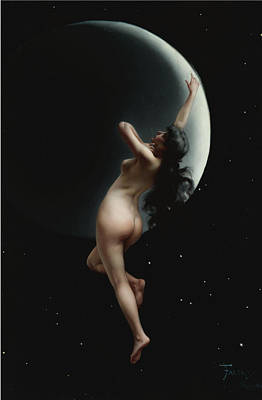 Luis Sales Painting - The Moon Nymph by Luis Ricardo Falero
