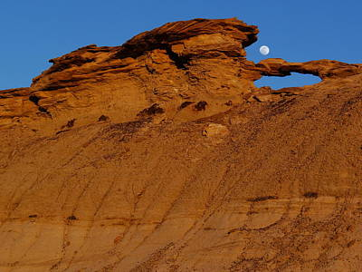 Photograph - The Moon Over The Badland by Qing Yang