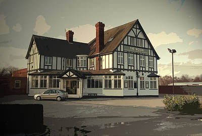 Found Art Drawing - The Moon Public House In Spondon, This Pub Can Be Found by Litz Collection