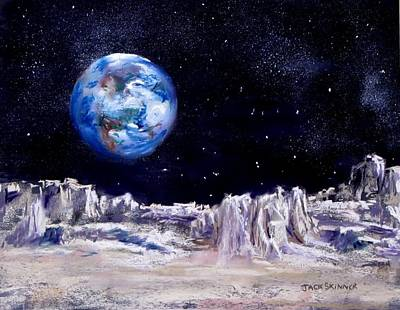 Painting - The Moon Rocks by Jack Skinner