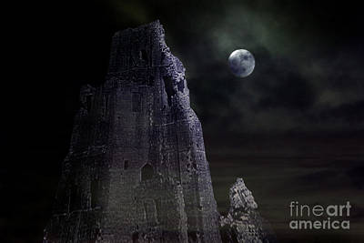 The Moonshine On The Castle Print by Terri Waters