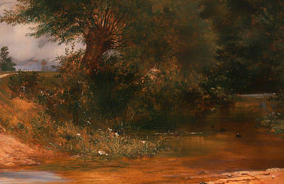 Beautiful Creek Painting - The Moor Hen's Haunt by Mountain Dreams